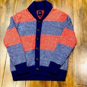 Gap Kids Blue & Red Shawl Collar Cardigan Sz 10